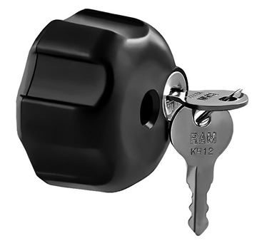 """Picture of RAM Locking Knob with 1/4""""-20 Brass Hole"""